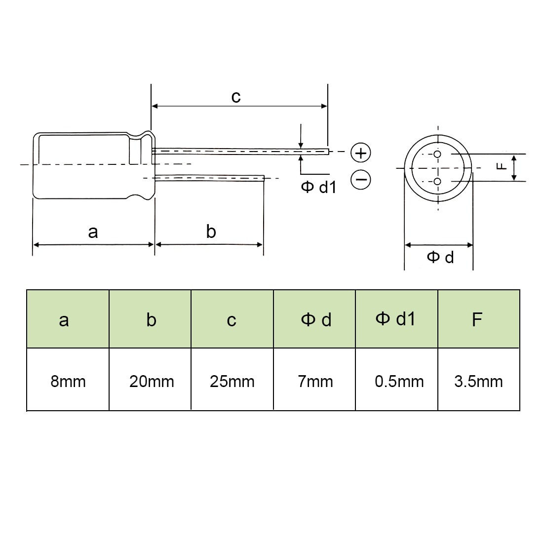 hight resolution of shop aluminum radial electrolytic capacitor low esr green 470uf 10v 8 x 7mm 20pcs 470uf 10v 8x7 20pcs on sale free shipping on orders over 45