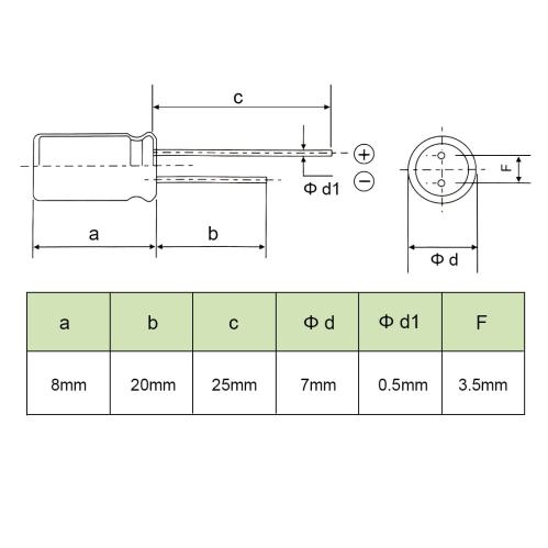 small resolution of shop aluminum radial electrolytic capacitor low esr green 470uf 10v 8 x 7mm 20pcs 470uf 10v 8x7 20pcs on sale free shipping on orders over 45