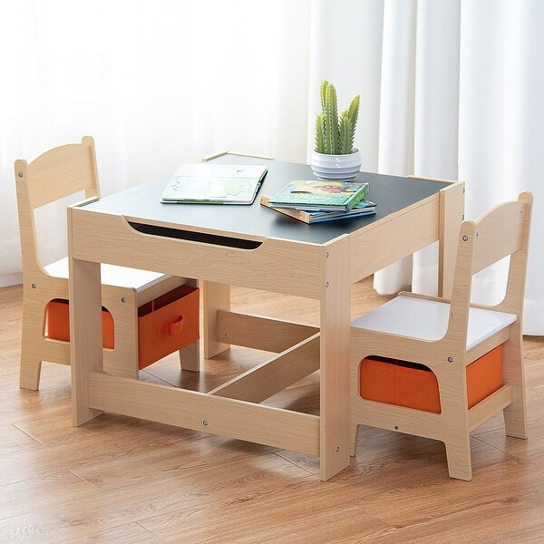 where to buy toddler table and chairs dining chair covers for sale ireland shop gymax children kids set with storage boxes blackboard whiteboard drawing