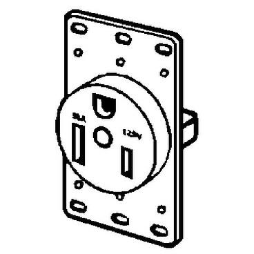 Shop Cooper Wiring 1254-BOX 3-Wire Flush Ground Power