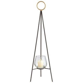 Antiqued 42-inch Indoor/Outdoor Tripod Candle Holder with