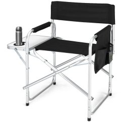 Outdoor Folding Chair With Side Table Stryker Stair Shop Costway Director S Camping X27 Fishing W Cup