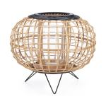Imax Home 41200 Canyon Adara Bamboo And Rattan Pillar Lantern Candle Holder By Trisha Yearwood Brown Overstock 27547525