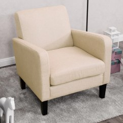 Living Room Arm Chair Simple Wood Sofa Designs For Shop Costway Leisure Accent Single Fabric Upholstered Furniture Beige