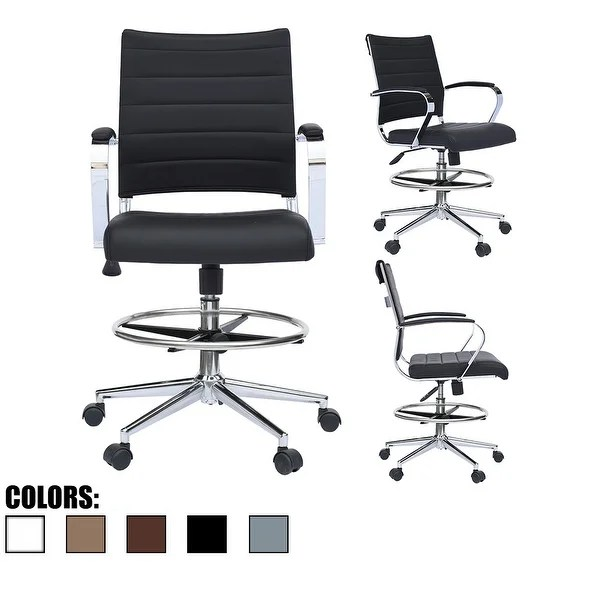 modern drafting chair personalized chairs for toddlers shop designer ergonomic office with arms ribbed computer black