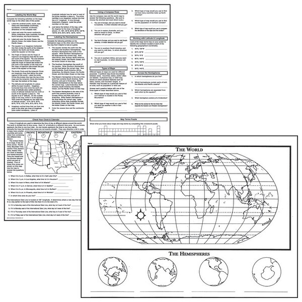Shop Activity Posters Basic Map Skills 17X22 30 Shts