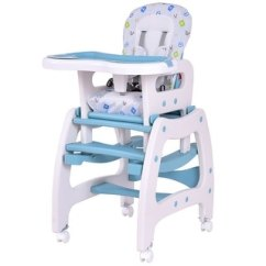 Table High Chair Reviews Big And Tall Mesh Drafting Top Product For Costway 3 In 1 Baby Convertible Play Seat Booster Toddler Feeding Tray Blue
