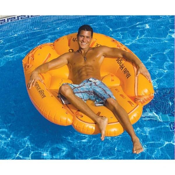 inflatable chair canada ikea high reviews shop giant baseball mitt large pool 55 orange
