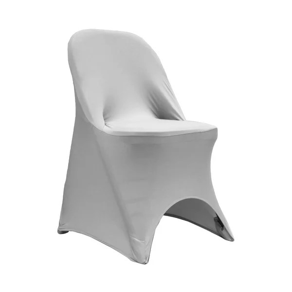 metal chair covers comfortable for gaming shop silver spandex folding cover free shipping on orders over 45 overstock com 18740375