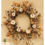 10 Orange Pumpkin Oak Harvest Thanksgiving Wreath On Sale Overstock 31887947