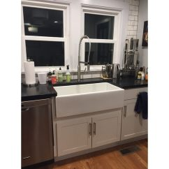 36 Inch Kitchen Sink Drawer Organizer Ideas Shop Highpoint Collection White Single Bowl Rectangle Fireclay Farmhouse Free Shipping Today Overstock Com 10363453