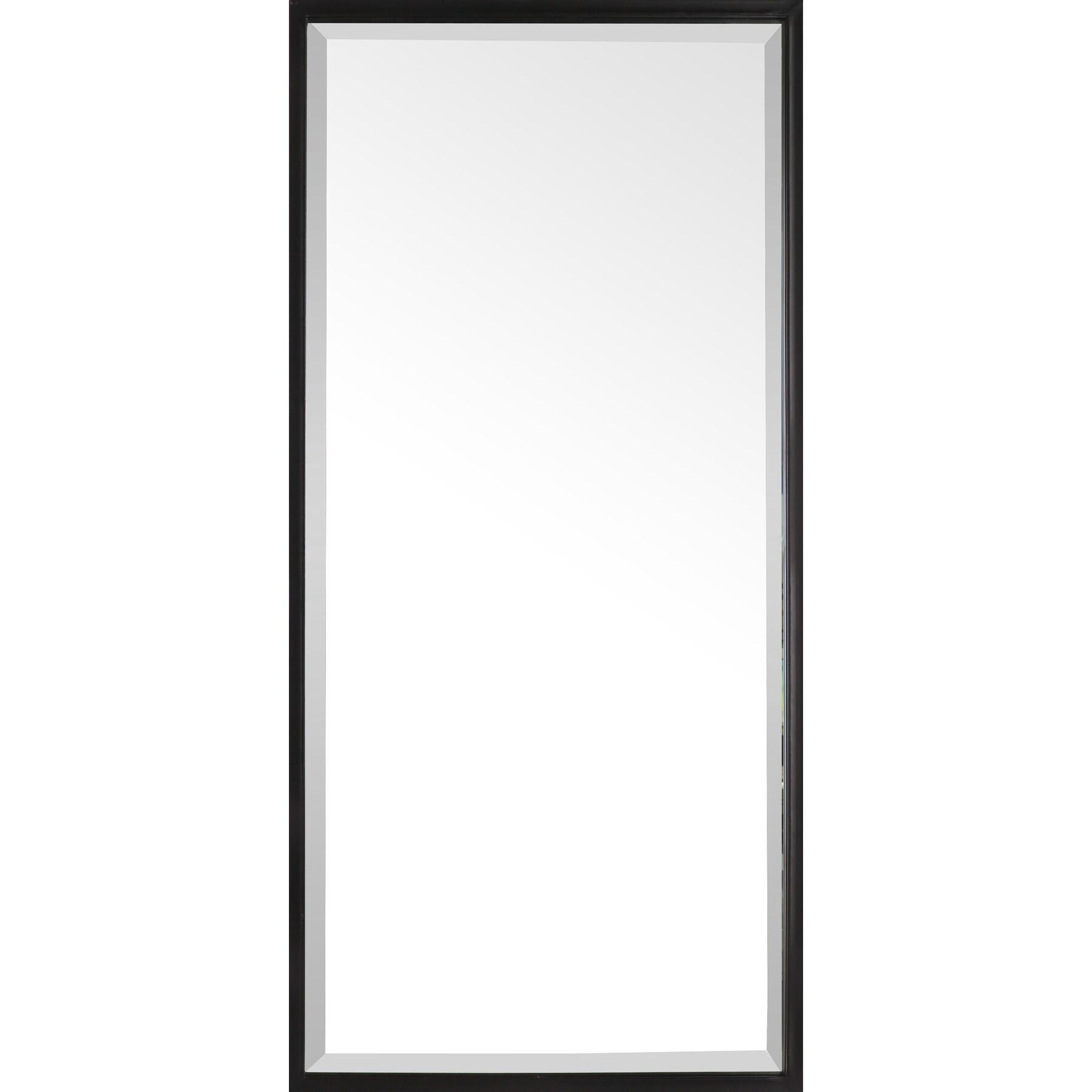 35x16 framed beveled vanity wall mirror black rectangle modern industrial large long metal frame mirrors for entryway bathroom