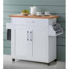 Cherry Kitchen Island Storage Cabinets Ikea Shop Hodedah Hik78 With Spice Rack Towel Amp