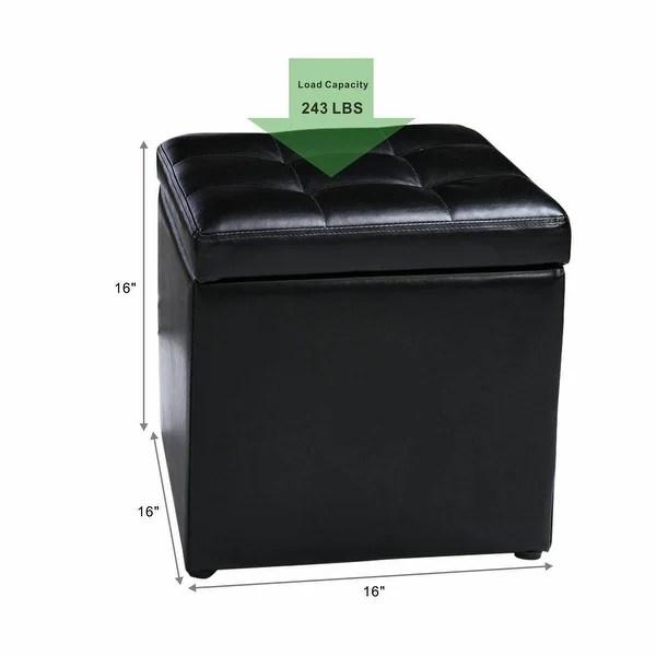 costway 16 cube ottoman pouffe storage
