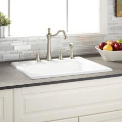 Single Bowl Cast Iron Kitchen Sink Cabinets Lancaster Pa Shop Signature Hardware 935679 25 4 Kilane Drop In Basin
