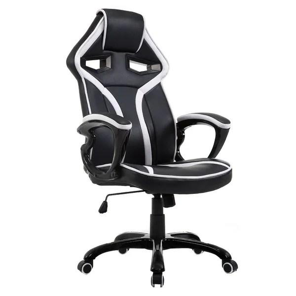 office chair high seat ergonomic cushion shop costway race car style bucket back racing gaming desk task