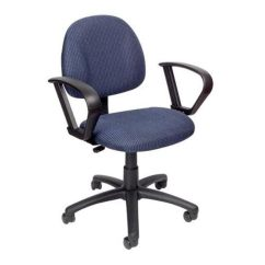 Posture Deluxe Chair Swivel Garden Furniture Shop Boss B317 Be Task Computer With Loop Arms Blue Free Shipping Today Overstock Com 24868779