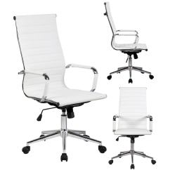 Office Chair Ratings 2016 Lafuma Accessories Shop 2xhome White Executive Ergonomic High Back Modern Ribbed Pu Leather Swivel For Manager Conference Computer Desk Free Shipping Today