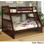 Furniture Of America Kerc Mission Twin Over Full Solid Wood Bunk Bed Overstock 9183956 Dark Walnut