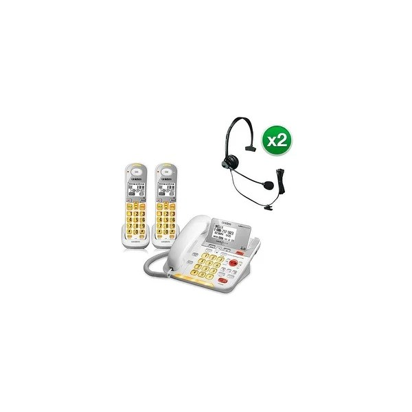 Shop Uniden D3098-2 with Headset DECT 6.0 Amplified Corded