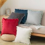 Elegant Boho Decorative Throw Pillow Covers With Tassels For Couch Bed Sofa Soft Velvet Cushion Covers 18 X18 Overstock 32058159