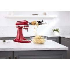 Kitchenaid Kitchen Rustic Table Appliances Find Great Dining Deals Ksm1apc 5 Blade Spiralizer Attachment With Peel Core And Slice