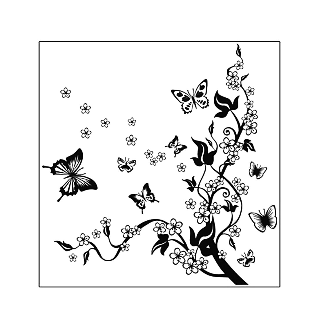 Shop Black Friday Deals On Butterfly Flower Pattern Diy Home Bedroom Decal Wall Decor Sticker Multi Color Overstock 28888204