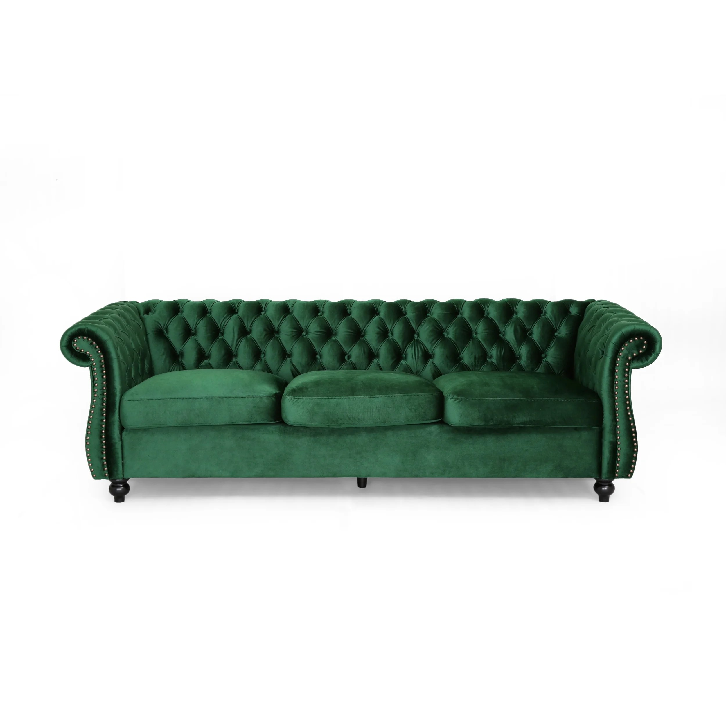Somerville Chesterfield Tufted Velvet Sofa By Christopher Knight Home On Sale Overstock 24242295