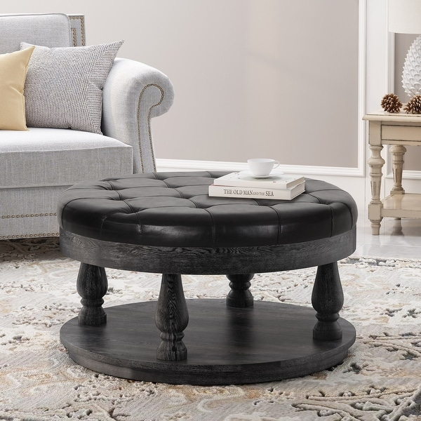 hewlett contemporary upholstered round