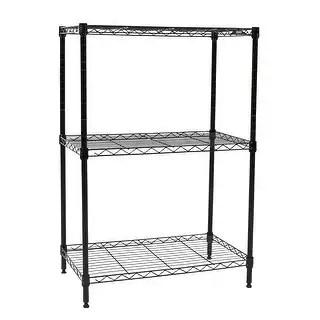 Shop Apollo Hardware Black 3-Shelf Wire Shelving 14