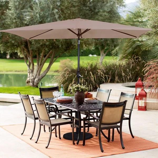 bonosuki 10 x 7ft patio umbrella with