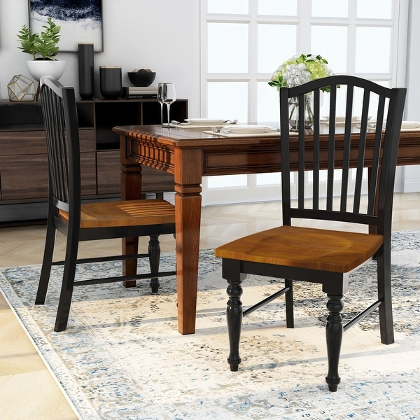 Shop Furniture Of America Levole Two Tone Country Style Dining Chairs Set Of 2 On Sale Overstock 20460851
