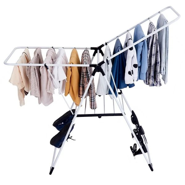 66 laundry clothes storage drying rack