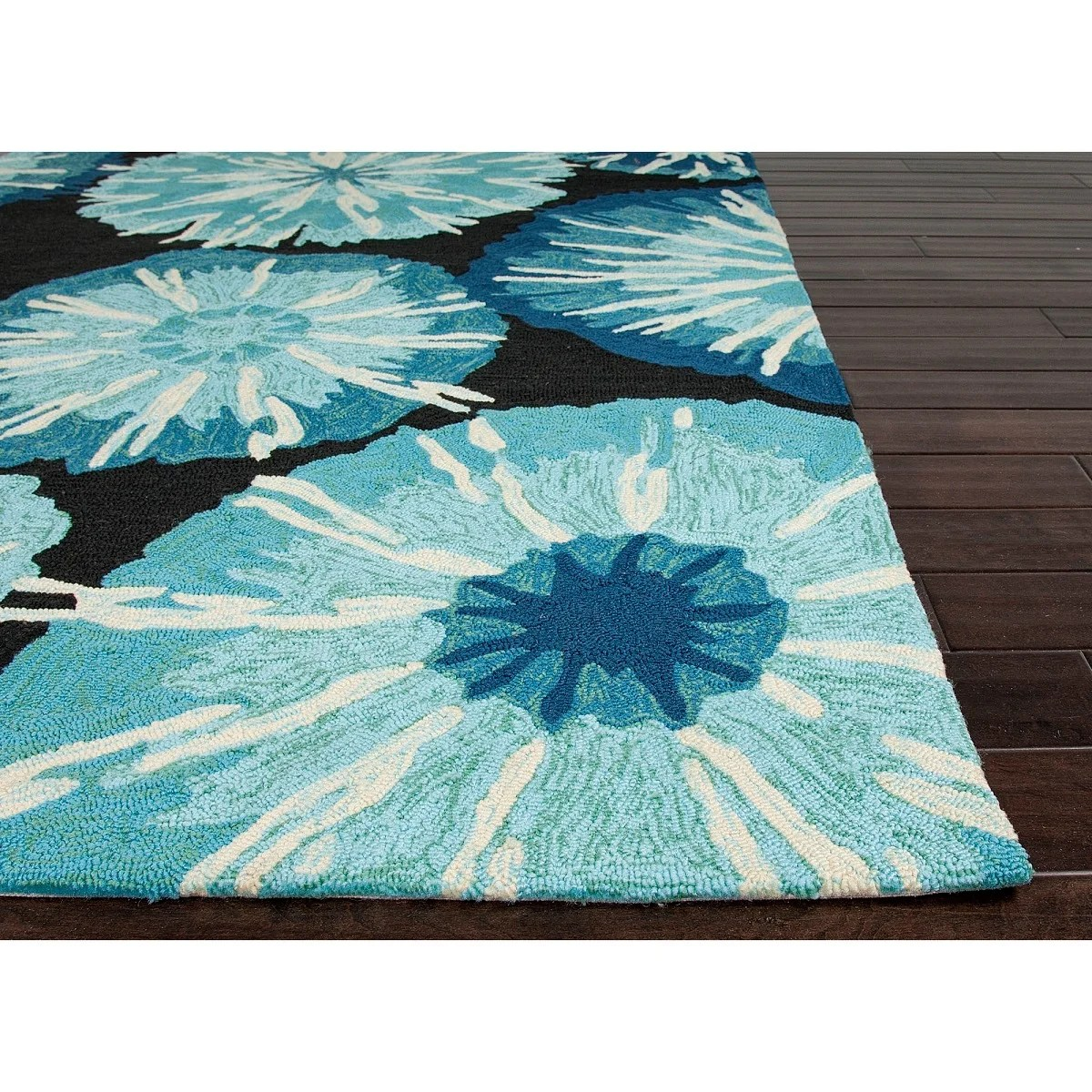 Shop 2 X 3 Baby Blue Cobalt Blue Black And White Starburst Design Outdoor Area Throw Rug 2 Footx3 Foot Free Shipping Today Overstock 16671045