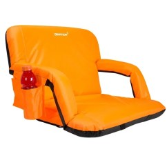Stadium Chair For Bleachers Orange Leather Shop Driftsun Expanded Width Deluxe Seat Folding Reclining Bleacher With Back Sport