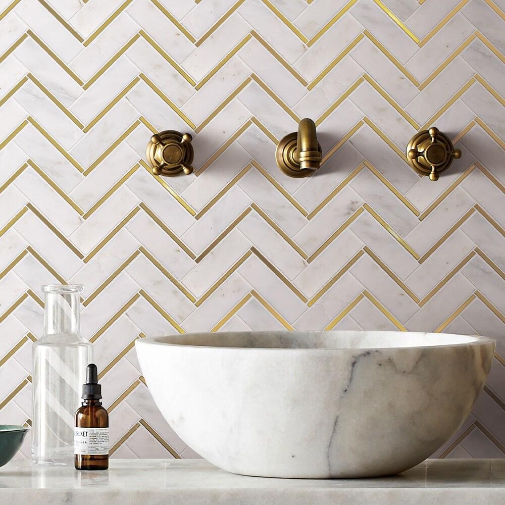 buy gold backsplash tiles online at