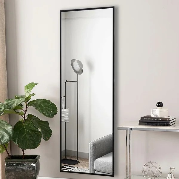 Shop Modern Full Length Rectangular Wall Mounted Hanging Vanity Mirror Overstock 31867740