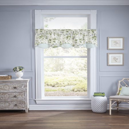 living room window valances modern wallpaper 6 valance styles that look great in any green and white floral print scallop hanging a