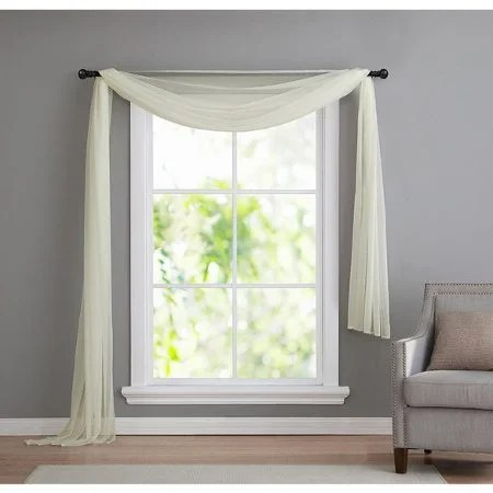 living room window valances wall clocks for 6 valance styles that look great in any off white scarf draped over a grey