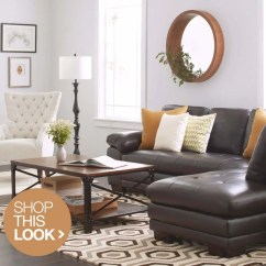 Living Room With Brown Leather Couch Ideas Traditional Fireplace 6 Trendy Decor To Try At Home Overstock Com Contemporary Sofa