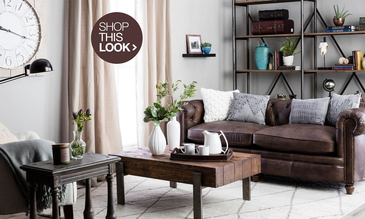 rustic decorating ideas for living room beige leather you ll love overstock com