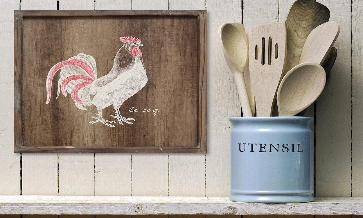 rooster kitchen decor organic utensils tips on buying overstock com ideas