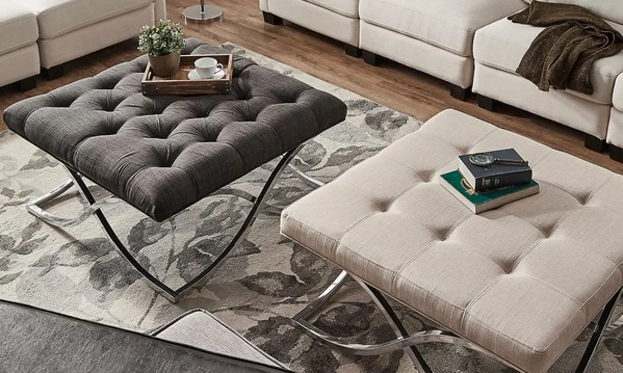 ottoman coffee tables living room for 5 tips on using ottomans as overstock com how to use an a table