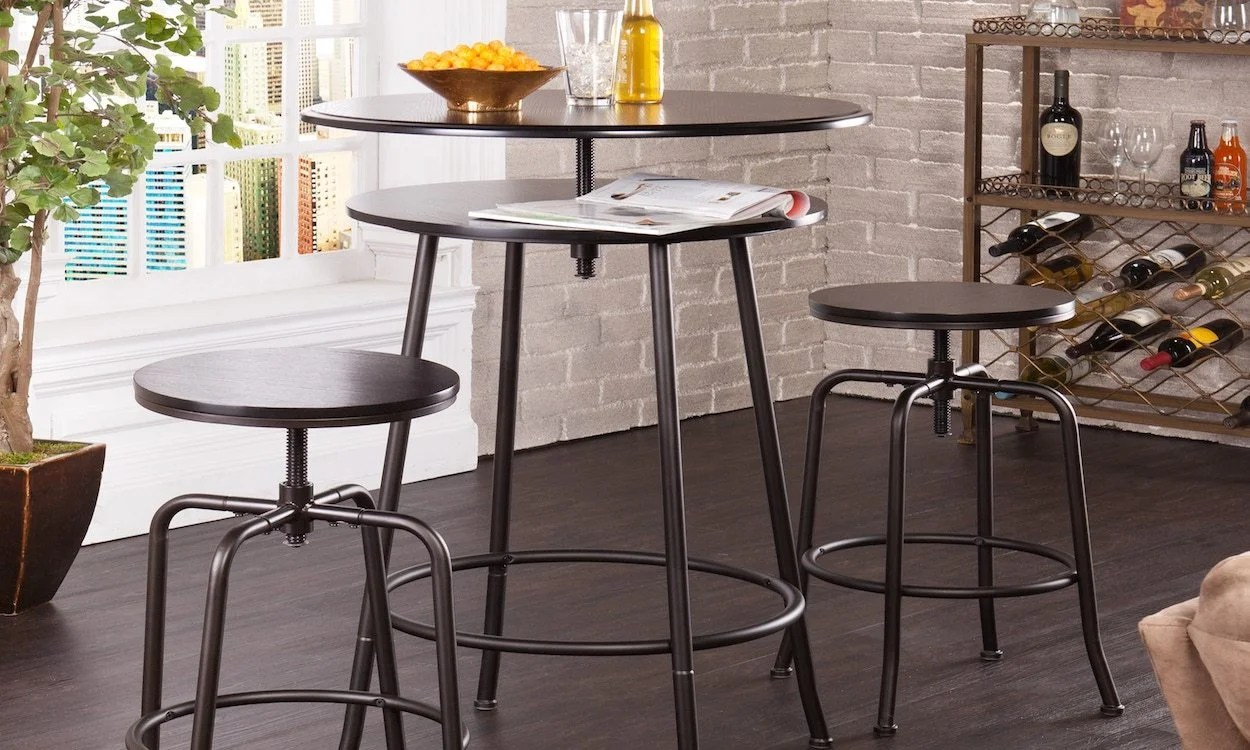 Bar Table With Chairs Finding The Right Furniture For Your Home Bar Overstock