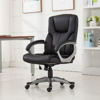 desk chair leans forward stackable resin lawn chairs how to find comfortable inexpensive office overstock com shop leather link image
