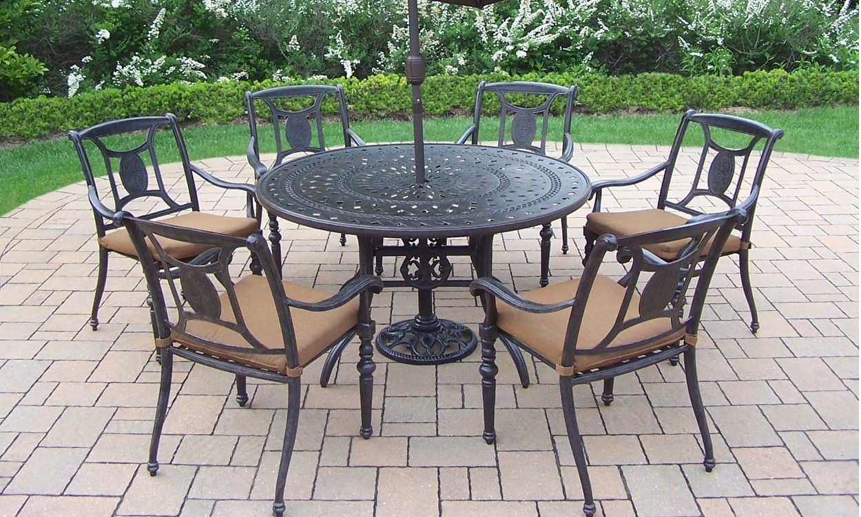 to clean wrought iron patio furniture