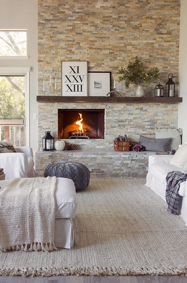 living room fireplace off centered simple indian interior design for 15 mantel decor ideas above your overstock com lanterns candles