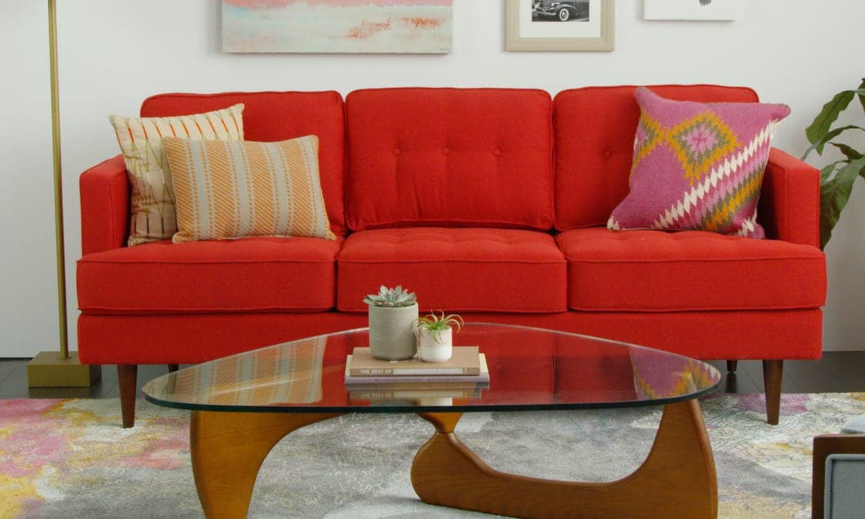 images of living room with red sofa bed plus recliner 3 ways to style around a overstock com how do i my