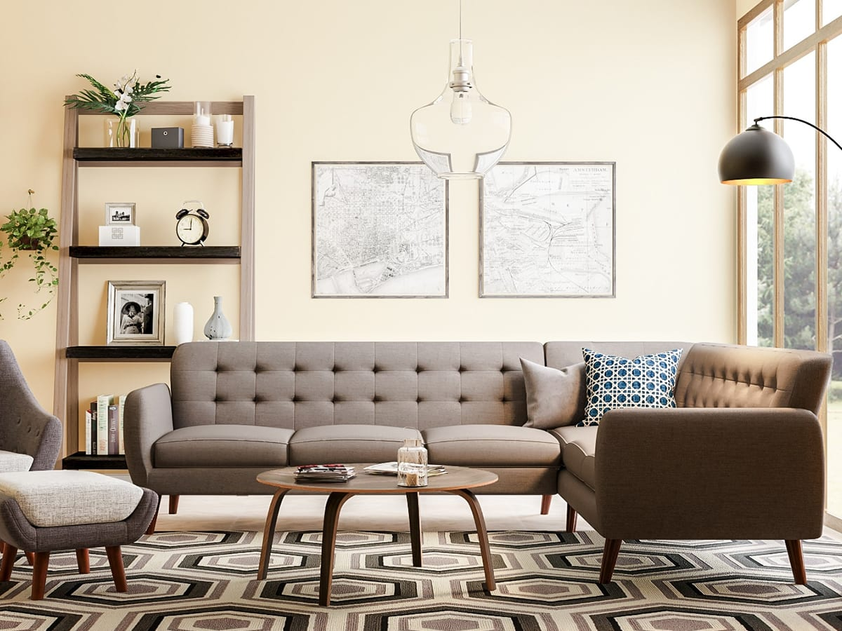 mid century modern living room ideas for colors 20 overstock com neutral colored