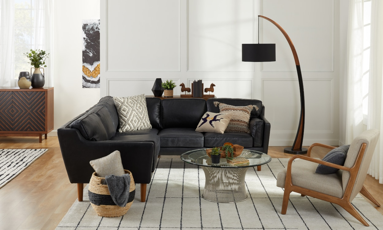Get tips on how to decorate and furnish your living room at refinery29. Decorating With Black Furniture in Your Living Room ...